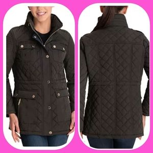 MICHAEL KORS  HOODED QUILTED COAT, WATER RESISTANT